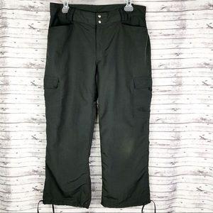 North Face Gray Cargo Capri Pants Size 12
